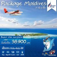 COOL PACKAGE MALDIVES 3D2N PG พัก2 คืนsafari seaplane Beach Villa
